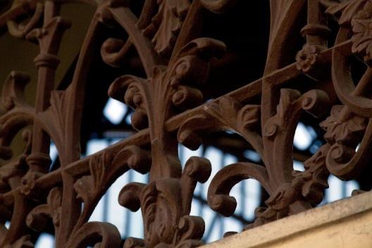 Detalhe de gradil, Estação da Luz<br />Foto Silvana Romano