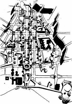 Alison e Peter Smithson, centro da cidade, Berlim, 1958