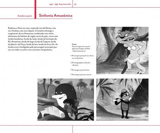 Página do livro <i>Trajetória do cinema de animação no Brasil</i>, de Ana Flávia Marcheti <br />Imagem divulgação