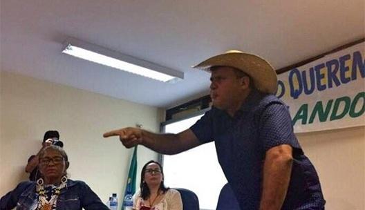 Dirceu Biancardi, prefeito da cidade de Senador José Porfírio PA, durante o evento na UFPA <br />Foto divulgação  [Facebook da Prefeitura de Senador José Porfírio PA]