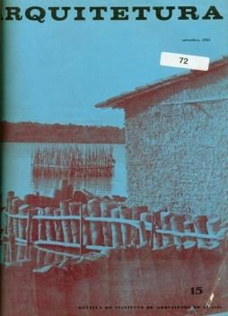Capa da revista Arquitetura do IAB n. 15 setembro de 1963 p. 17 a 24 em que o documento final do Seminário de Habitação e Reforma Urbana de 1963 foi publicado [Arquitetura n. 15, setembro, 1963]
