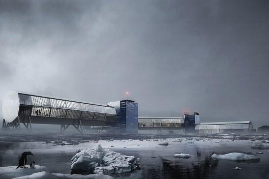 Estação Antártica Comandante Ferraz, menção honrosa. Arquiteta Vera Magiano Hazan