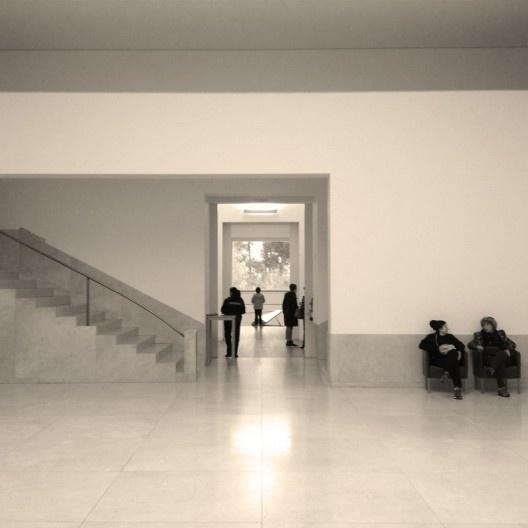 Átrio central, Museu de Serralves, Porto<br />Foto Ney Zillmer Neto