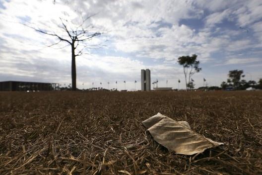 Terra arrasada provocada pela seca, Brasília DF<br />Foto Marcelo Camargo  [Agência Brasil]