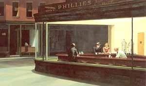 Nighthawks de Edward Hopper. Fonte: Haskell, B., p. 340