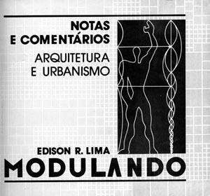 Capa do livro Modulando de autoria do arquiteto Edison Lima [foto da autora]
