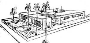 """Residência projetada pelo arquiteto Paulo Vaz, publicada no jornal """"A Folha da Manhã""""  [Arquivo público Estadual Jordão Emerenciano]"""