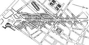 Georges Eugène Haussmann, Plano de Paris, 1851-1870 [BENÉVOLO, Leonardo. A história da cidade. São Paulo, Perspectiva, 1983]