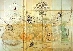 Ildefonso Cerdà, Plano de Barcelona, 1859 [GIMENO, Eva. Catálogo da exposição Cerdà, urbs i territori]