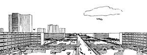 Le Corbusier, Ville Contemporaine, 1922 [LE CORBUSIER, Oeuvre complète 1910 – 1929. Zurich, Artemis, 1995]