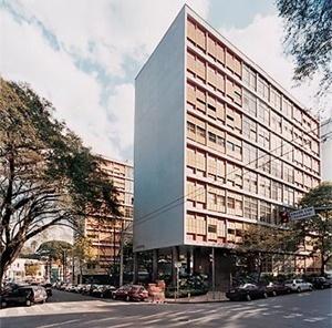 Edifício Louveira, São Paulo, 1946, arquiteto Vilanova Artigas<br />Foto Nelson Kon