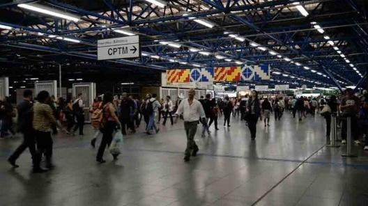 Bandeira/fronteira instalada no Terminal Intermodal Barra Funda de São Paulo<br />Foto divulgação