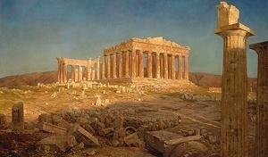 02. O Parthenon, óleo sobre tela. Frederic Edwin Church, 1871