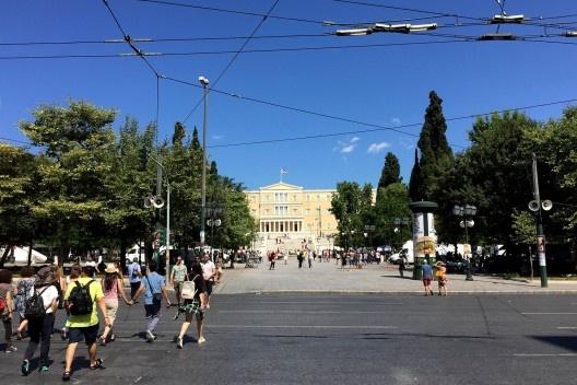 Atenas em crise<br />Foto Evandro Fiorin
