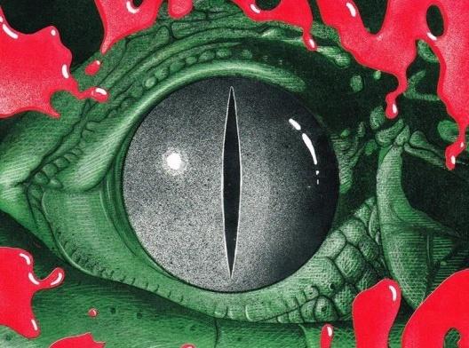 """Detalhe da capa do LP """"Clara Crocodilo""""<br />Imagem divulgação  [Arte de Luiz Gê]"""