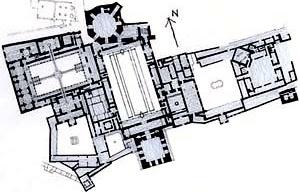 Palácio de Alhambra [adaptado de CHING, Francis D. K.. Arquitetura, forma, espaço e ordem. São Paulo, Martins F]