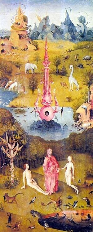 Painel esquerdo do tríptico O Jardim das Delícias (c.1485), Bosch [MUSEU DEL PRADO, p. 3]