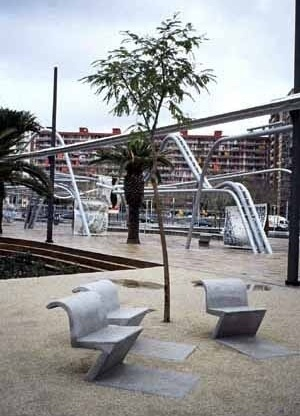 Parc Diagonal Mar en Barcelona, Enric Miralles y Benedetta Tagliabue