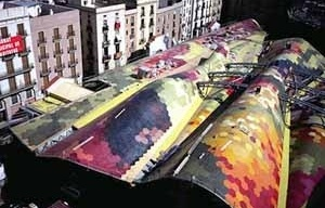 Mercado Santa Caterina en Barcelona, Enric Miralles y Benedetta Tagliabue