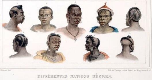 <i>Jean-Baptiste Debret</i>, Diferentes Nações Negras de escravos no Brasil, c. 1830 [Wikimedia Commons]