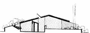 Corte da Residência Milton Sabag, arquiteto Miguel Juliano, 1972 [Revista Casa & Jardim, nº 254, 1976, p. 30.]