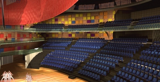 Interior do Novo Teatro do Bixiga. Brasil Arquitetura