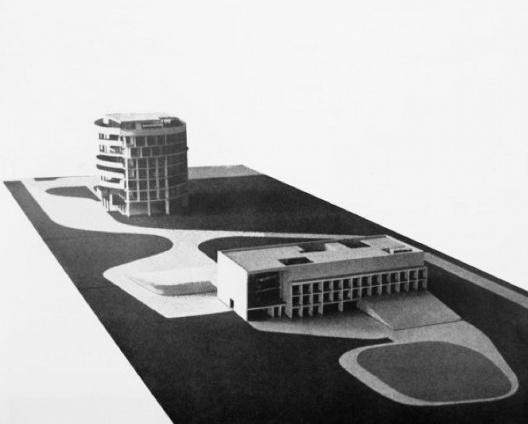 Embaixada da França, maquete, Brasília, 1962-1964, arquiteto Le Corbusier<br />Imagem divulgação  [Fondation Le Corbusier]
