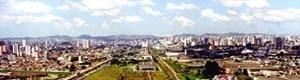 Vista panorâmica da área de intervenção do Projeto Eixo Tamanduatehy, Prefeitura de Santo André