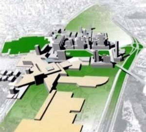 Proposta da equipe liderada pelo arquiteto Eduardo Leira. Projeto Eixo Tamanduatehy, Prefeitura de Santo André