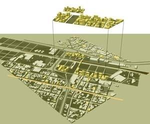 Proposta da equipe liderada pelo arquiteto Christian de Portzamparc. Projeto Eixo Tamanduatehy, Prefeitura de Santo André