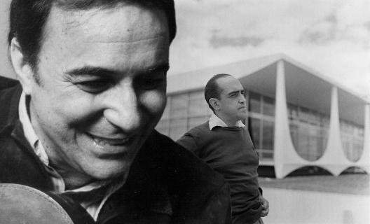 João Gilberto e Oscar Niemeyer<br />Fotomontagem AG