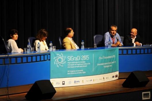 XIX Sigradi Florianópolis 2015, abertura do congresso<br />Foto Hamilton Nogueira