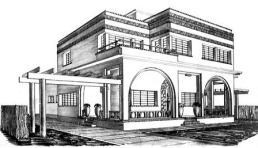 Residência Ferrabino, São Paulo. Arquiteto Rino Levi, 1932