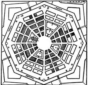 Cidade ideal por Perret de Chambery. In: QUARONI, Ludovico. La Torre de Babel. Barcelona: Editorial Gustavo Gili, 1972, p. 201