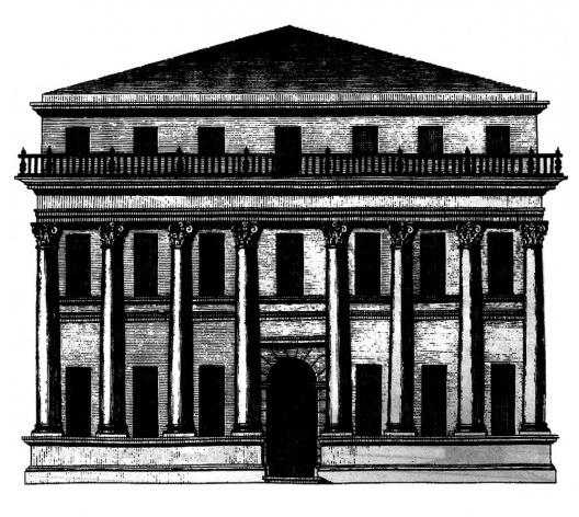 Pormenor da Lâmina XXV<br />Imagem divulgação  [</i>Los cuatro libros de arquitectura</i>, de Andrea Palladio]