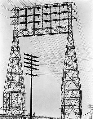 Edward Weston, Linhas e torres de energia elétrica, Lincoln Blvd, EUA