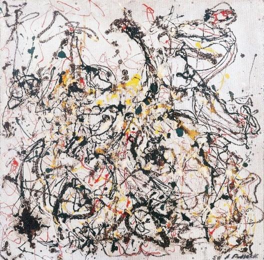 """Jackson Pollock, """"Obra no 16"""", 1950<br />Imagem divulgação  [Acervo MAM Rio]"""