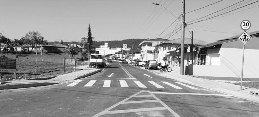 Rua Professor Simão Hess, principal via comercial da cidade após a sua revitalização, Luiz Alves SC, 2020<br />Foto divulgação  [Prefeitura Municipal de Luiz Alves SC]
