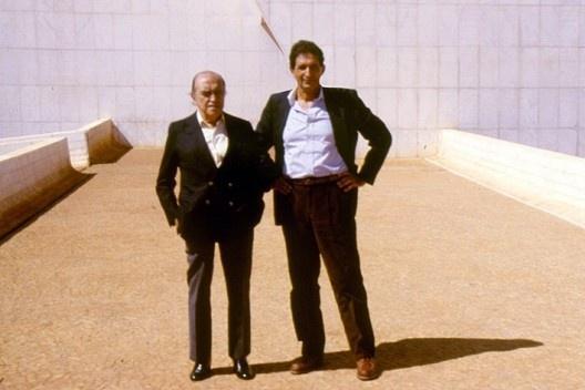 Oscar Niemeyer e Roberto Segre [divulgação]