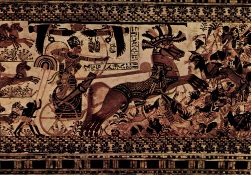 Tutankhamun na guerra<br />Museu do Cairo  [Wikipedia]