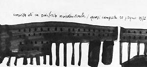 Figura 3: Conjunto Gallaratese - conceito tipológico no projeto [ROSSI, 1975]