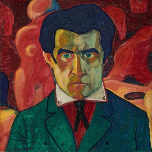 "Kazimir Malevich, ""Autorretrato"", c.1910, 27 x 26.8 cm<br />Foto divulgação  [Acervo Tretyakov Gallery]"