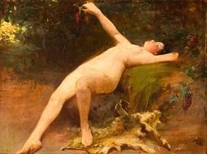 Arthur Timótheo da Costa, Nú Feminino, 1909 (Óleo sobre madeira) Associação Museu Afro Brasil.
