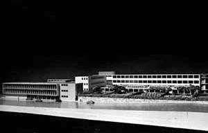 Palanti e Calabi – Maquete do Orfanato da Liga das Senhoras Católicas 1947 [Arquivo do arquiteto na FAU-USP]
