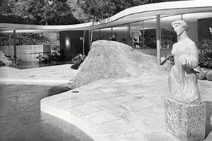 Casa do arquiteto, Canoas, Rio de Janeiro, Oscar Niemeyer, 1953 [Modern Architeture in Brazil, de Henrique Mindlin, 1956]