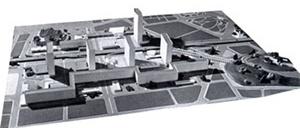 Plano para o Morro de Santo Antonio, Rio de Janeiro, Affonso Eduardo Reidy [Modern Architeture in Brazil, de Henrique Mindlin, 1956]