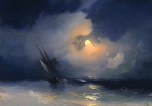Ivan Aivazovsky, <i>Storm at Sea on a Moonlit Night</i>, 1848<br />Imagem divulgação
