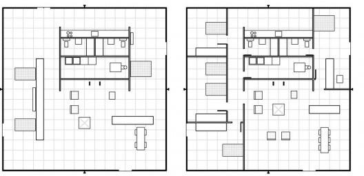Farnsworth house interior batman 39 s taste in modernist for Zeb pilot house floor plan
