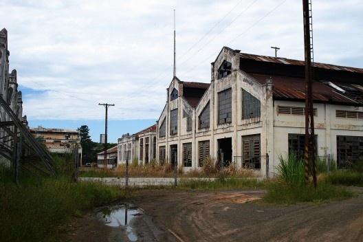 Galpões, complexo ferroviário, Bauru<br />Foto Antonio Zagato  [Acervo UPPH/SEC/SP]