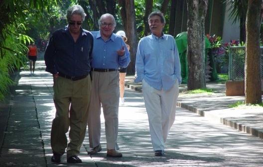 Pedro Paulo de Melo Saraiva, Fábio Penteado e Paulo Mendes da Rocha, 12 de abril de 2005<br />Foto Fernando Mendonça